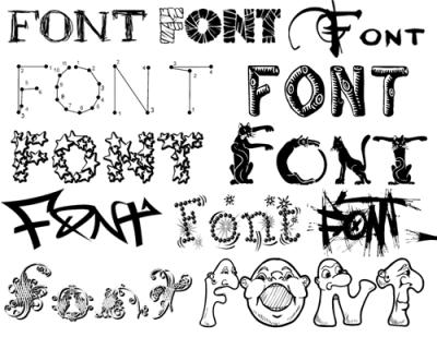 Коллекция оригинальных шрифтов 75мб